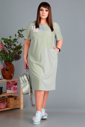 Платье Algranda 3476 олива