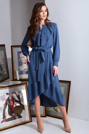 Платье Axxa 55138 синий фото