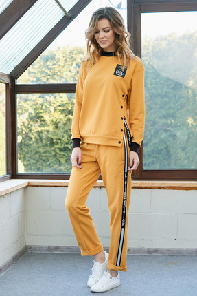 Спортивный костюм Фантазия Мод 3579 желтый фото