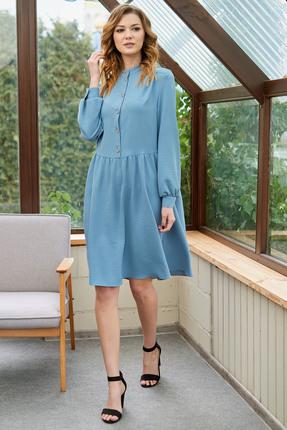 Платье Фантазия Мод 3546 голубой