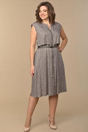 Платье Lady Style Classic 1134 хаки с цветами