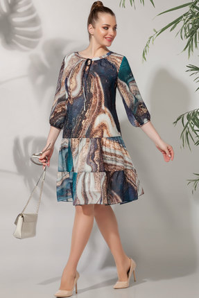 Платье БагираАнТа 616 мультиколор фото
