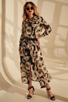 Платье Golden Valley 4659 темные тона