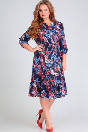 Платье Асолия 2470 мультиколор