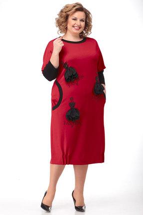 Платье Ladis Line 1194 красный фото