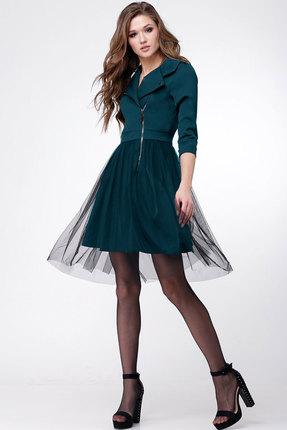 Платье Ladis Line 1043 морская волна фото