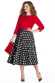 Платье TEZA 323 черный с красным