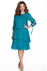 Платье TEZA 325 бирюзовый