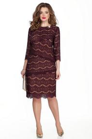 Платье TEZA 329 бордовые тона