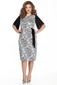Платье TEZA 330 черно-белый