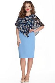 Платье TEZA 332 синие тона