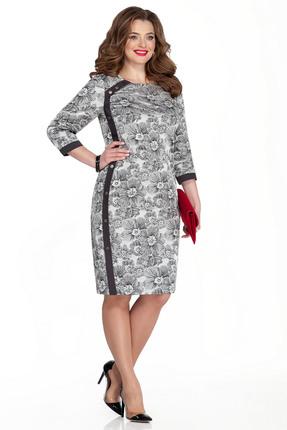 Платье TEZA 333 черно-белый
