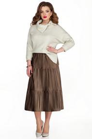 Комплект юбочный TEZA 335 коричневые тона