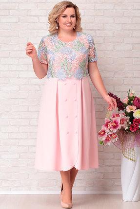 Платье Aira Style 689 пудра