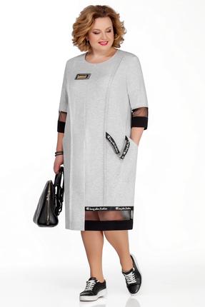 Платье Pretty 1032 светло-серый фото