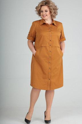 Платье Elga 01-641.1 горчица фото