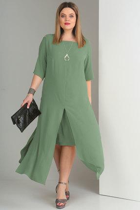 Комплект юбочный Viola Style 2623 светлая бирюза фото