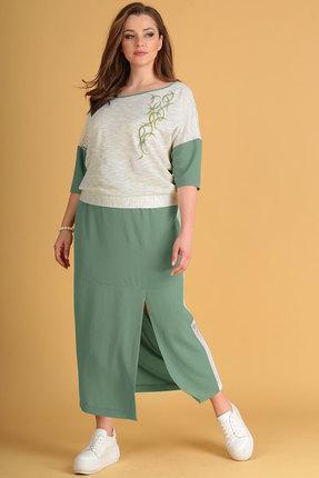 Комплект юбочный Viola Style 2627 олива фото
