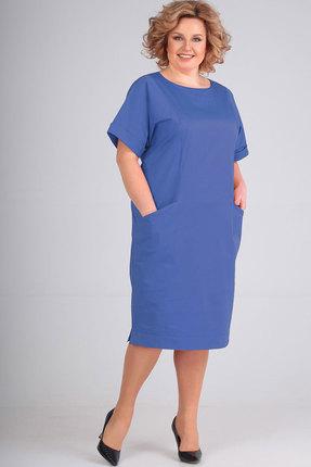 Платье Elga 01-659 василёк