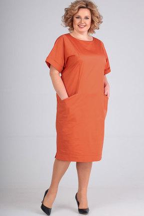 Платье Elga 01-659 оранжевый