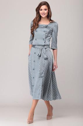 Комплект юбочный Verita Moda 2058 синие тона фото