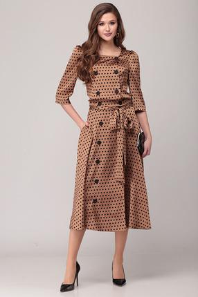 Комплект юбочный Verita Moda 2058 коричневый фото