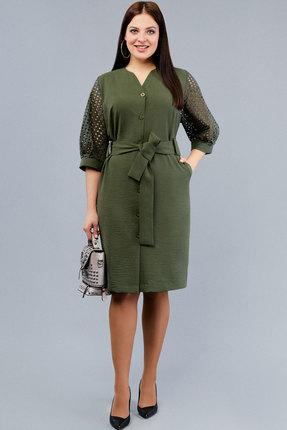 Платье Emilia 10141 хаки