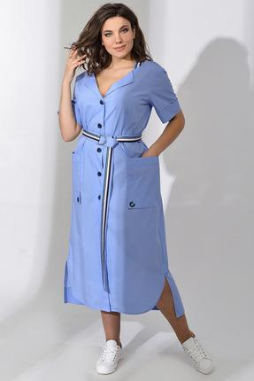 Платье Anna Majewska А305 голубые тона