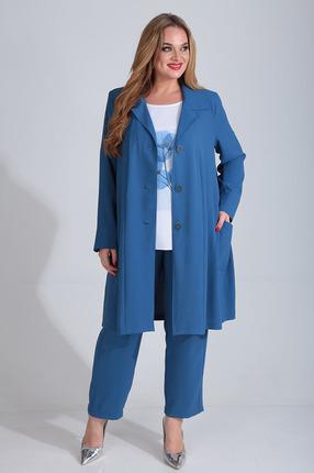 Комплект брючный Диамант 1508 синий фото
