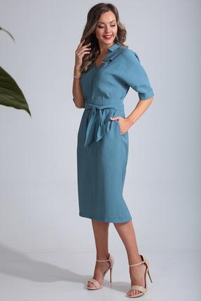 Платье SandyNa 13669 голубой фото