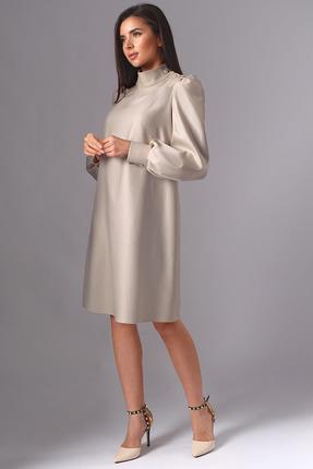 Платье Миа Мода 1136-1 белое золото