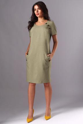 Платье Миа Мода 1141 оливковый