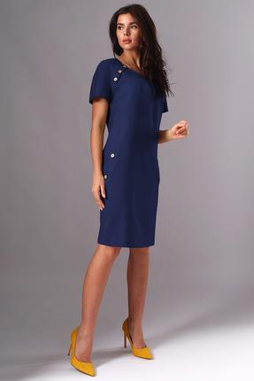 Платье Миа Мода 1141-1 темно-синий