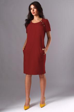 Платье Миа Мода 1141-3 красно-бордовый