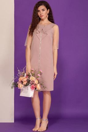Платье DilanaVIP 1507 чайная роза фото