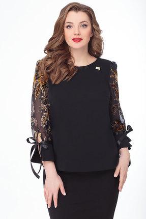 Блузка Дали 3457 черный с желтым