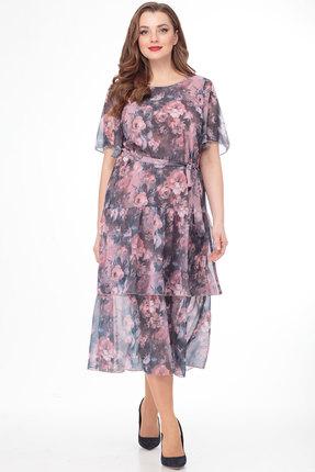 Платье Anelli 701 сиреневые тона