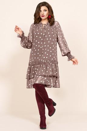 Платье Мублиз 418 бежевые тона фото