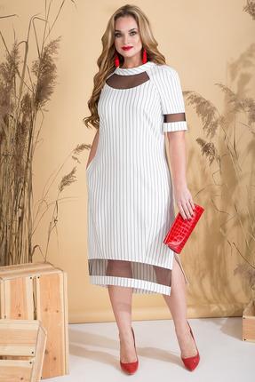 Платье Лилиана 806N белый в полоску
