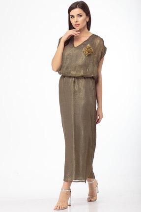 Платье Anelli 574 золотистые тона