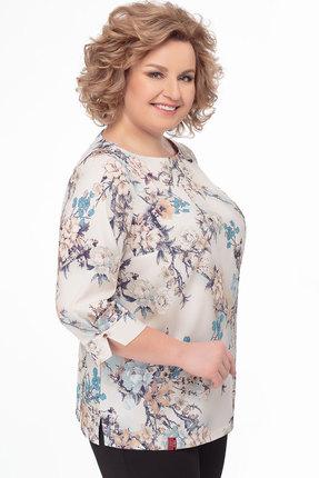 Блузка AVLINE 1723 бежевые тона фото