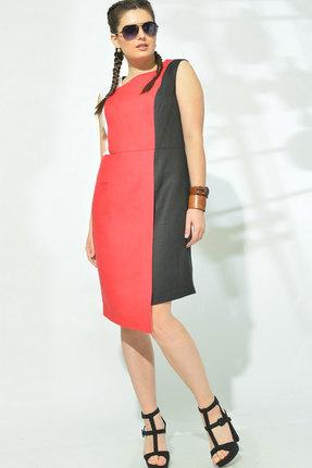 Платье MALI 419-038 чёрный+красный фото
