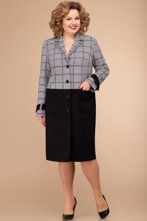Кардиган Svetlana Style 1315 черный с серым