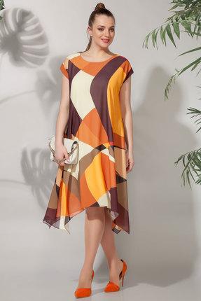 Платье БагираАнТа 618 терракотовые тона