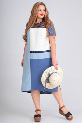 Платье Anastasia Mak 712 синий фото