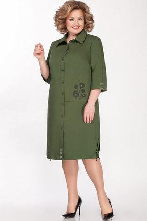 Платье Теллура-Л 1493 зелёный фото