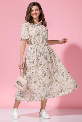 Платье Anna Majewska 1237N розовые тона