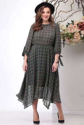 Платье Michel Chic 972 зеленые тона