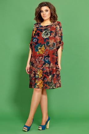 Платье Мублиз 416 оранжевые тона фото