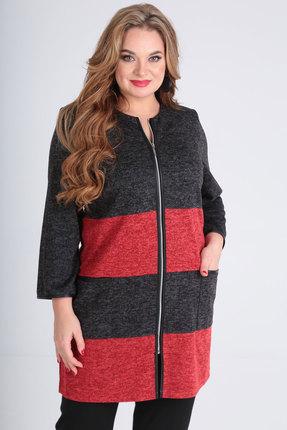 Кардиган SOVITA 547 серый с красным фото